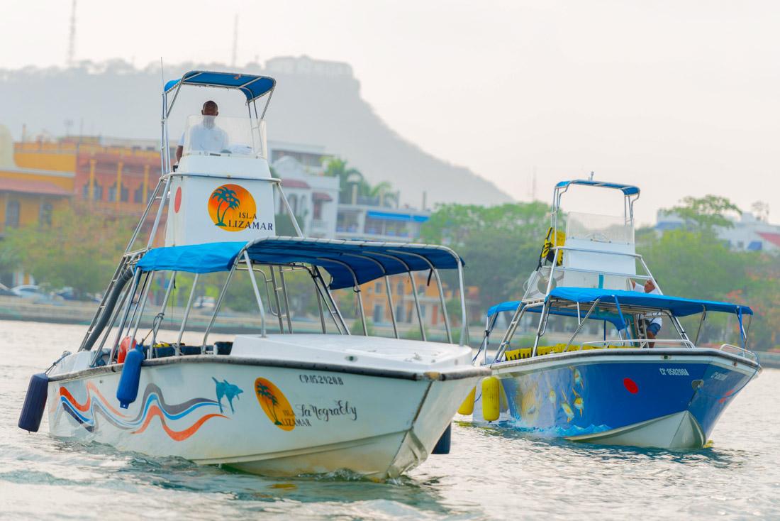 Lanchas — Isla Lizamar (Islas del Rosario, Colombia)