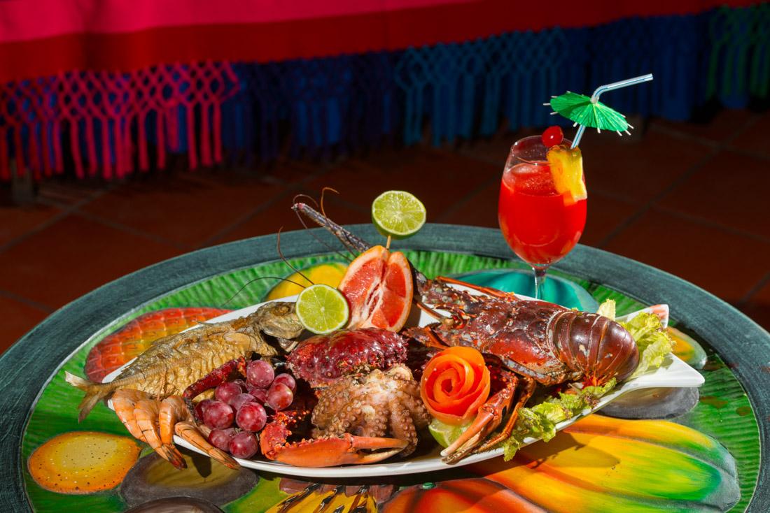 Gastronomía — Isla Lizamar (Islas del Rosario, Colombia)