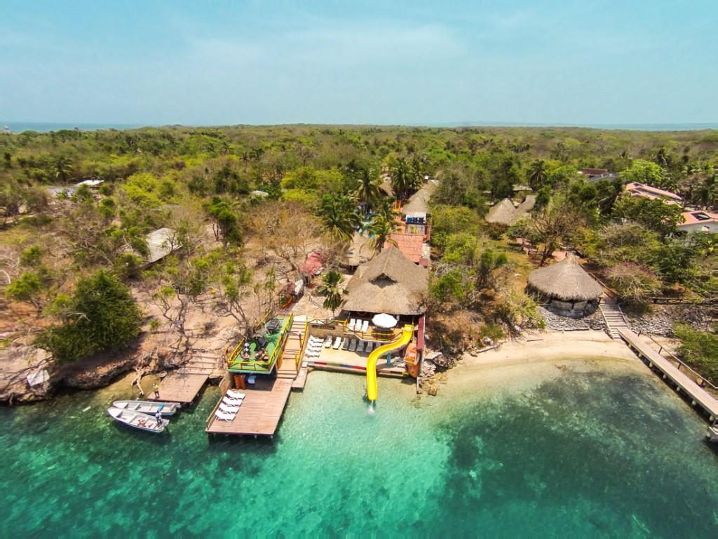 Vista aérea — Isla Lizamar (Islas del Rosario, Colombia)